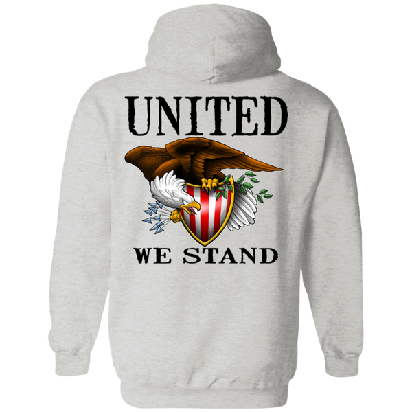 1776 American Bald Eagle United We Stand Double Sided Pullover Hoodie
