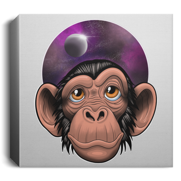 Space Chimp Square Canvas 1.5in Frame