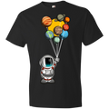Youth Space Astronaut Balloons Party Lightweight T-Shirt