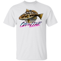 Calico Bass Kelp Bass On The Line Saltwater T-Shirt