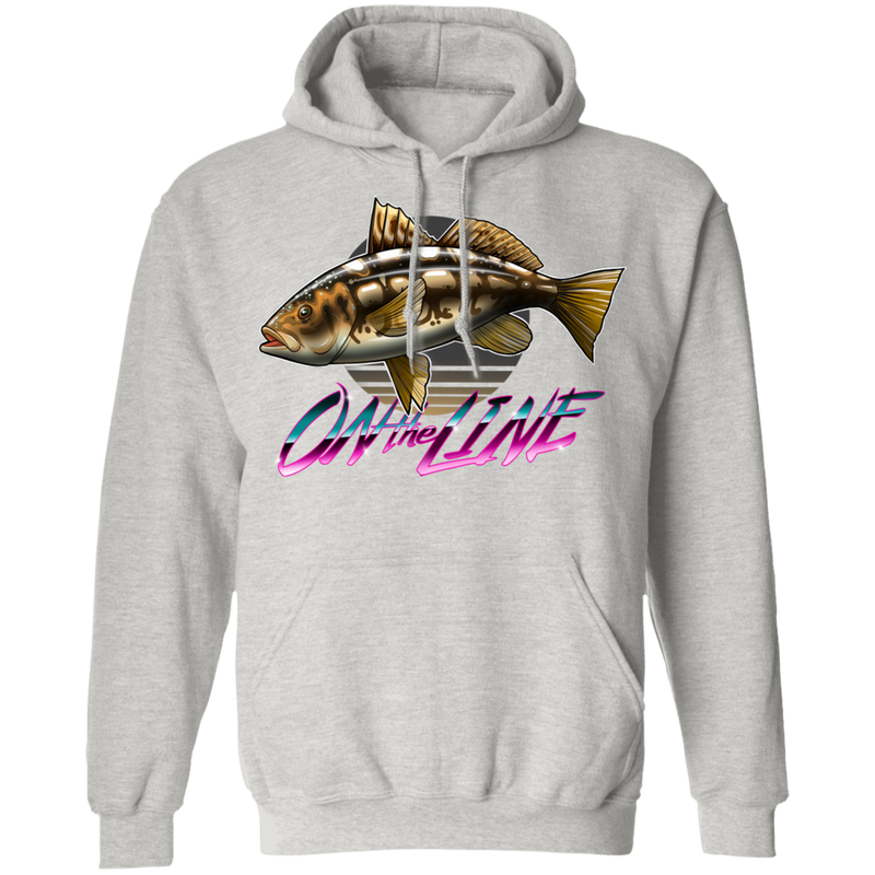 Calico Bass Kelp Bass On The Line Saltwater Pullover Hoodie