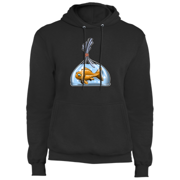 Sad Goldfish in a Bag Pullover Hoodie