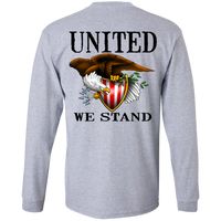 1776 American Bald Eagle United We Stand Double Sided Long Sleeve T-Shirt