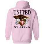 Lady Patriot American Bald Eagle United We Stand Double Sided Pullover Hoodie