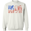 Shotgun Firearm American Flag Crewneck Sweatshirt