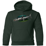 Youth Great Barracuda Saltwater Fish Pullover Hoodie