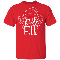 I'm The Bossy Elf Funny Ugly Christmas T-Shirt