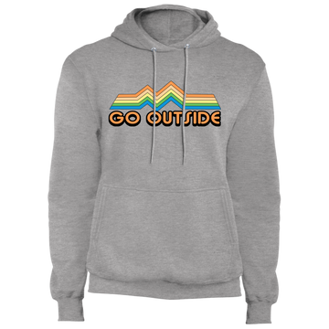 Go Outside Camping Nature Bright Premium Pullover Hoodie