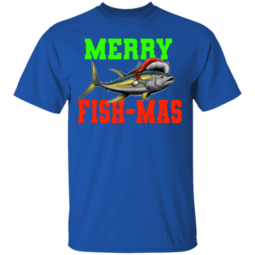 Merry Fish-Mas Funny Saltwater Ugly Christmas T-Shirt