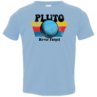 Toddler Space Planet Pluto Vintage 80s Jersey T-Shirt
