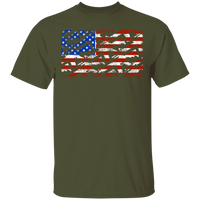 Rifle Firearm American Flag T-Shirt