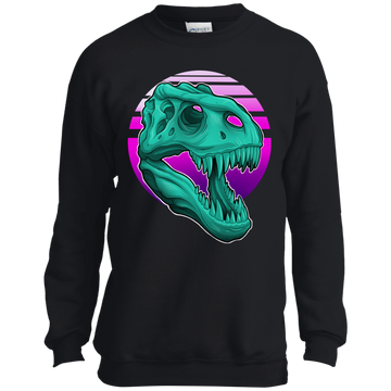 Boys' T-Rex Retro 80's Crewneck Sweatshirt