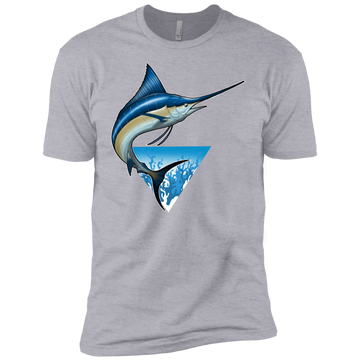 Boys' Blue Marlin Saltwater Fish Cotton T-Shirt
