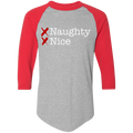 Naught and Nice Santa's List Ugly Christmas Baseball Raglan T-Shirt