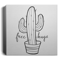 Free Hugs Cactus Funny Square Canvas 1.5in Frame