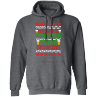 He Sees You When You're Drinking Santa Ugly Christmas Pullover Hoodie