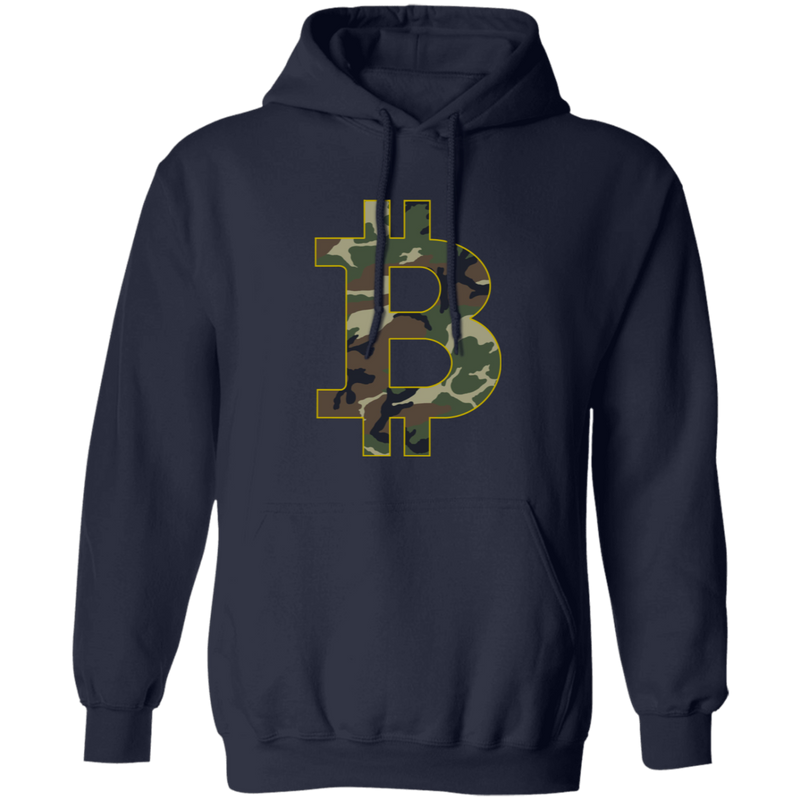 Camo Bitcoin Hodl Cryptocurrency BTC Pullover Hoodie