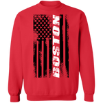 Boston Massachusetts American Flag Crewneck Sweatshirt