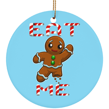 Eat Me Gingerbread Man Funny Christmas Ceramic Ornament
