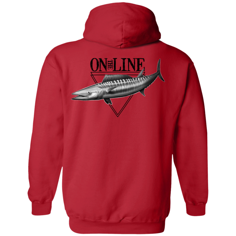 Wahoo Ono Fish On The Line Saltwater Double Sided Pullover Hoodie