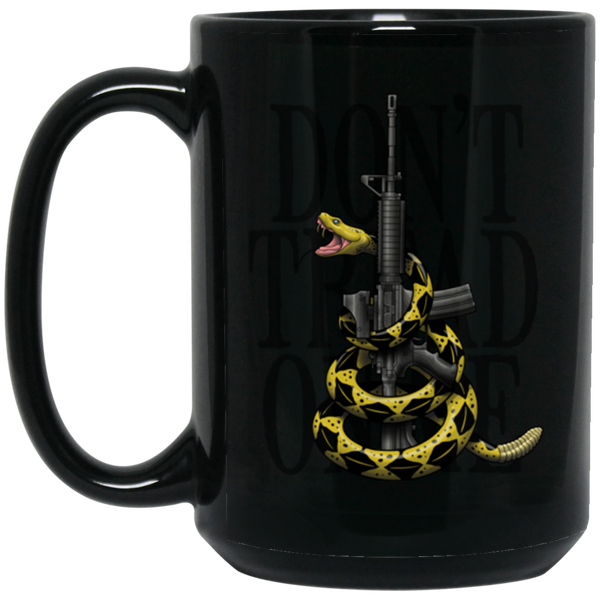 Yellow Snake America USA 15 oz. Black Coffee Mug