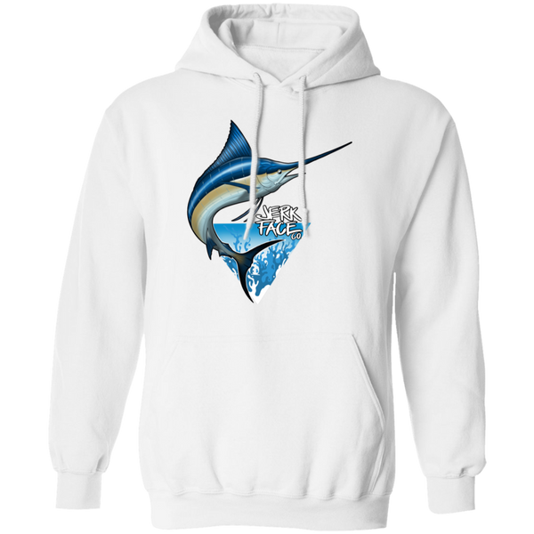 Atlantic Blue Marlin Saltwater Fish Pullover Hoodie