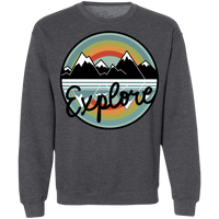Explore Mountains Hiking Camping Crewneck Sweatshirt