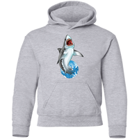 Youth Great White Shark Saltwater Pullover Hoodie