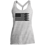 Bullet Firearm Patriot American Flag Women's Cosmic Twist Back Tank