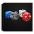 Roll Playing Dice Square Canvas 1.5in Frame