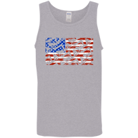 Rifle Firearm American Flag Tank Top