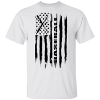 Baseball American Flag T-Shirt