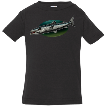 Infant Great Barracuda Saltwater Fish Jersey T-Shirt