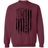 Fishing Saltwater Fresh Water Fish American Flag Crewneck Sweatshirt