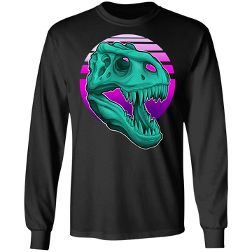 T-Rex Retro 80's Long Sleeve T-Shirt