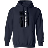 Nashville Tennessee American Flag Pullover Hoodie