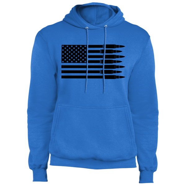 Bullet Firearm Patriot American Flag Pullover Hoodie