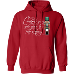 Crushing Your Nuts Funny Nut Cracker Ugly Christmas Pullover Hoodie