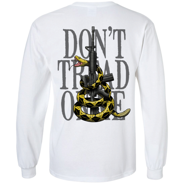 Patriot Don't Tread on Me Gadsden Flag Double Sided Long Sleeve T-Shirt