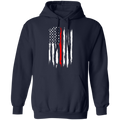 Firefighter Thin Red Line American Flag Pullover Hoodie