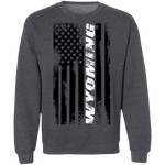 Wyoming American Flag Crewneck Sweatshirt