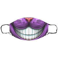 Small Trippy Purple Cat Face Mask