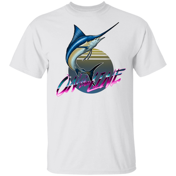 Atlantic Blue Marlin Swordfish On The Line Saltwater T-Shirt