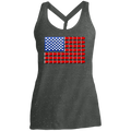 Beer Pong Red Cup American Flag Women's Cosmic Twist Back Tank
