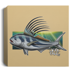 Rooster Fish Saltwater Deluxe Square Canvas 1.5in Frame