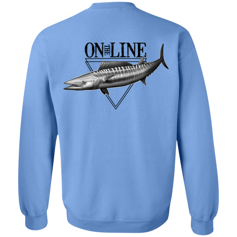 Wahoo Ono Fish On The Line Saltwater Double Sided Crewneck Sweatshirt