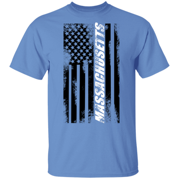 Massachusetts American Flag T-Shirt
