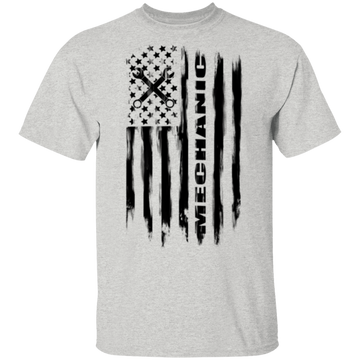 Mechanic Automotive Repair Enthusiast American Flag T-Shirt