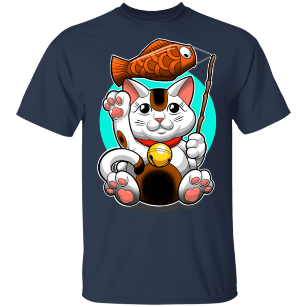Maneki-neko Lucky Cat Good Fortune T-Shirt