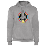 Men's Retro Space Ship Fleece Pullover Hoodie